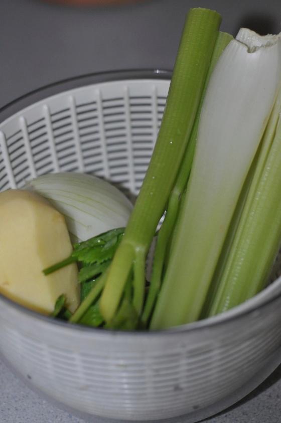 Légumes clams soupe